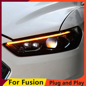 Image 2 - KOWELL Car Styling For Ford Mondeo 2013 2015 LED Headlight for Fusion Head Lamp LED Daytime Running Light LED DRL Bi Xenon HID