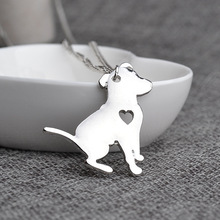 Pitbull Dog Pendant Puppy Dogs Necklaces – Best Gift for Dog Lover Pit Bull