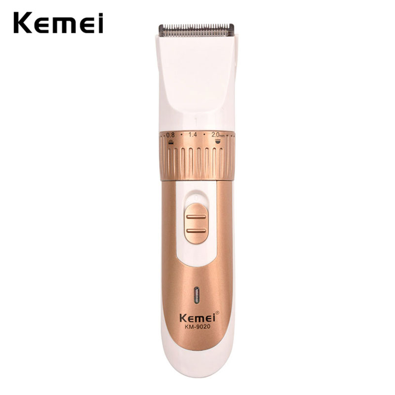 0.8-2.0mm Adjustable Kemei Electric Hair Clipper Rechargeable Beard Trimmer With Comb Hair Cutting Machine for Men Haircut S42 kemei km 1990 rechargeable electric adjustable hair clipper haircut trimmer with comb