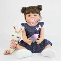55cm cheio de silicone vinil reborn bebê menina brinquedo lifelike recém-nascido princesa criança bebês vivo bonecas à prova dwaterproof água presente de aniversário