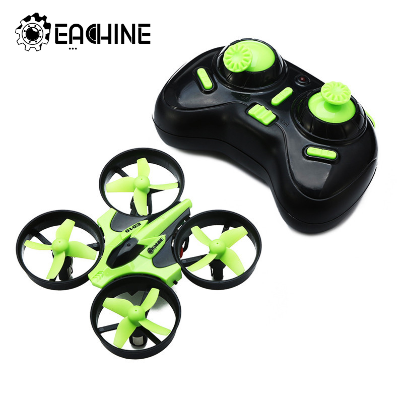 Ny Ankomst Eachine E010 Mini 2.4G 4CH 6 Aks 3D 3D Headless Mode Minne Funksjon RC Quadcopter RTF RC Tiny Gift Present Kid Toys