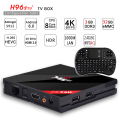 H96 Pro + Amlogic S912 Octa Core Android 6.0 TV Box 3G/32G 2.4g/5 ghz wifi bluetooth lan gigabit 4 k dlna google play set top caja