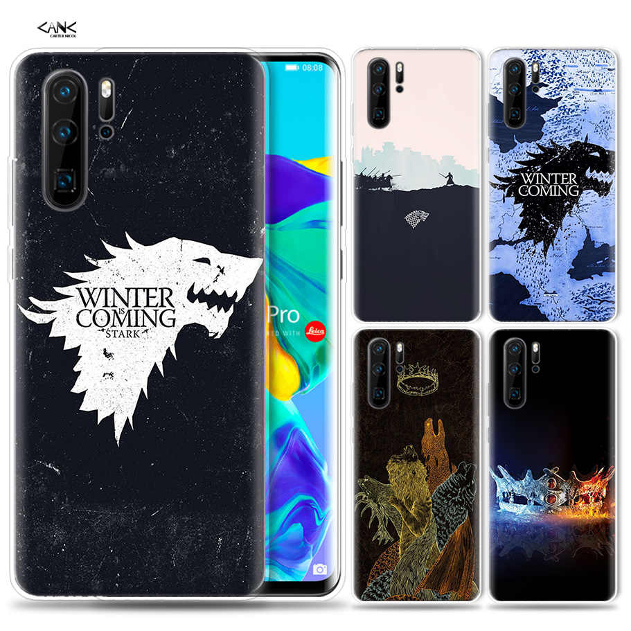 Case for Huawei P30 P20 P10 P9 Mate 10 20 Lite Pro Mobile Cell Phone Bag P Smart Z 2019 Plus Game Of Throne Anime P8 P30Pro P20l