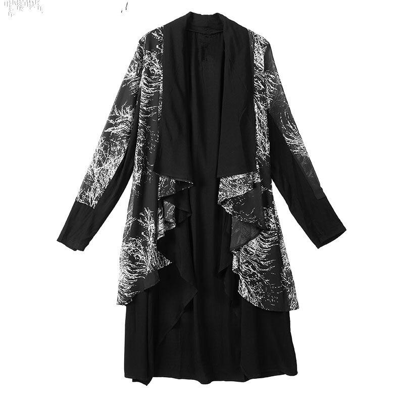 Пальто для мужчин темно ветровка личность кардиган плащ ночной клуб волос стильная куртка мужчин новый выше колена халаты Тренч