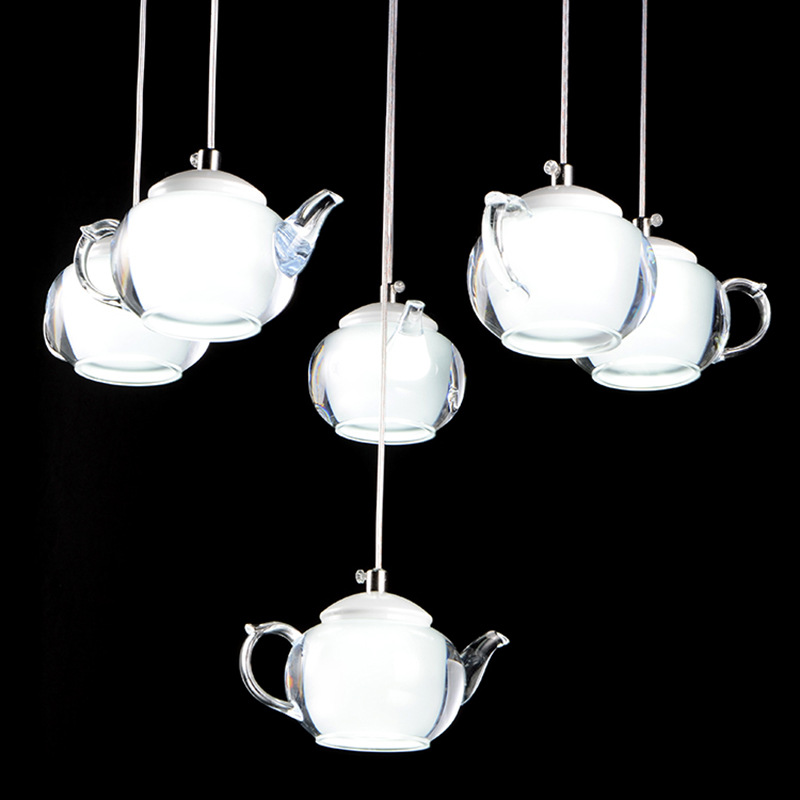 Modern Minimalist Droplight Creative Teapot Lamp for Hotel Room Living Room Corridor Bedroom Study LED Lights Pendant Fixture lightball three take the glass pendant lights corridor creative bedroom dining living room single head droplight cafe lamp