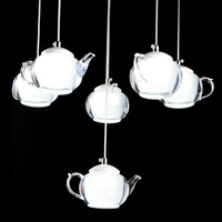 Modern Minimalist Droplight Creative Teapot Lamp for Hotel Room Living Room Corridor Bedroom Study LED Lights Pendant Fixture