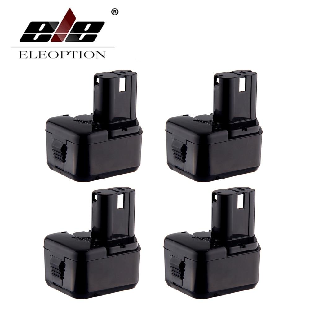 ELEOPTION 4PCS 12V 3.0Ah 3000mah Ni MH Battery Replacement Power Tool Cordless Drill Battery for Hitachi EB1214S EB1214L EB1212S