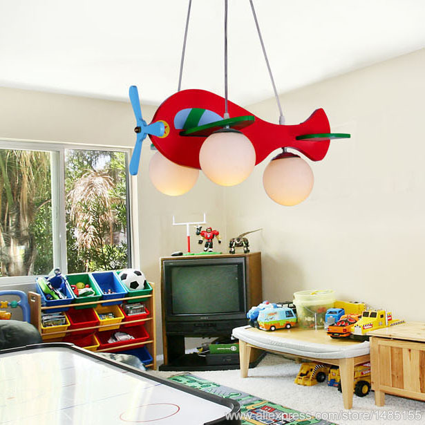 Hanging Airplane Lamp For Children Room Plane Lighting Child Bedroom Aeroplane Pendent Light Aircraft Kids Aaarrrii