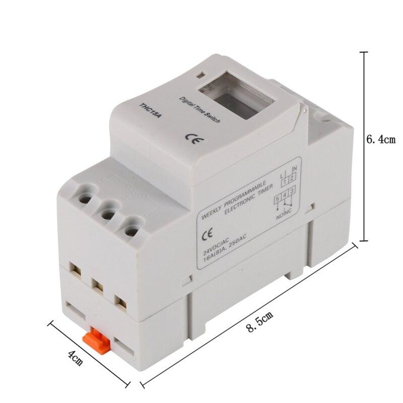 AC 12V 24V 110V 220V Digital LCD Power Timer Programmable Time Switch Relay 16A GOOD temporizador Din Rail 0 01 999 second 8 terminals digital timer programmable time relay
