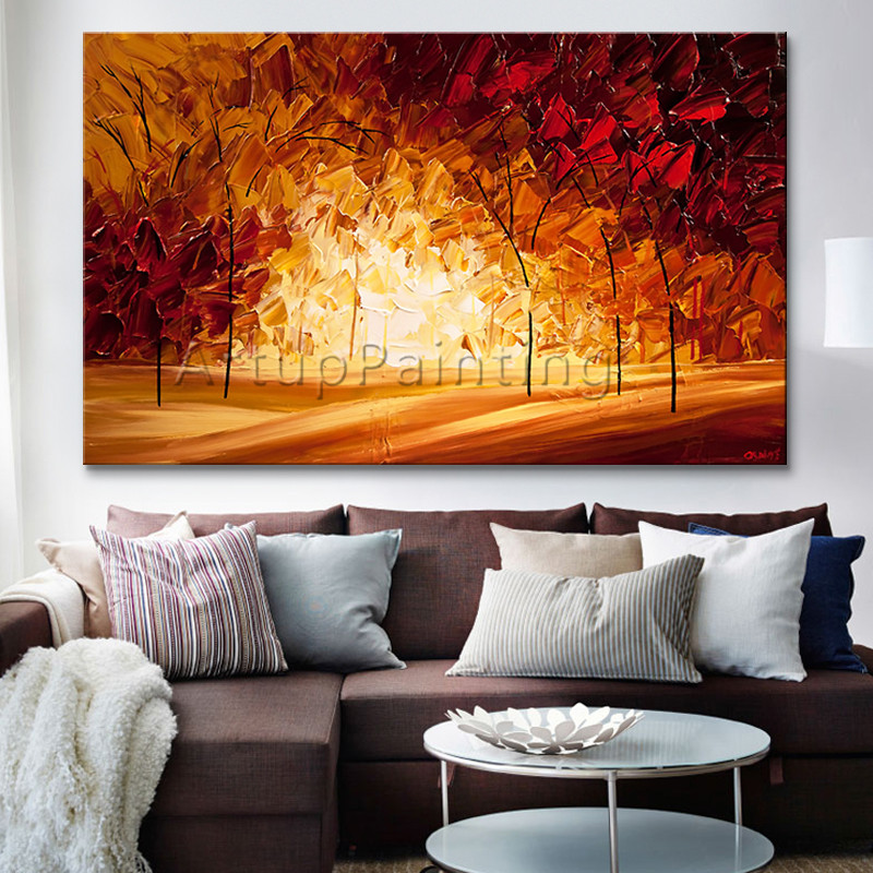 hand painted canvas oil painting wall pictures for living room