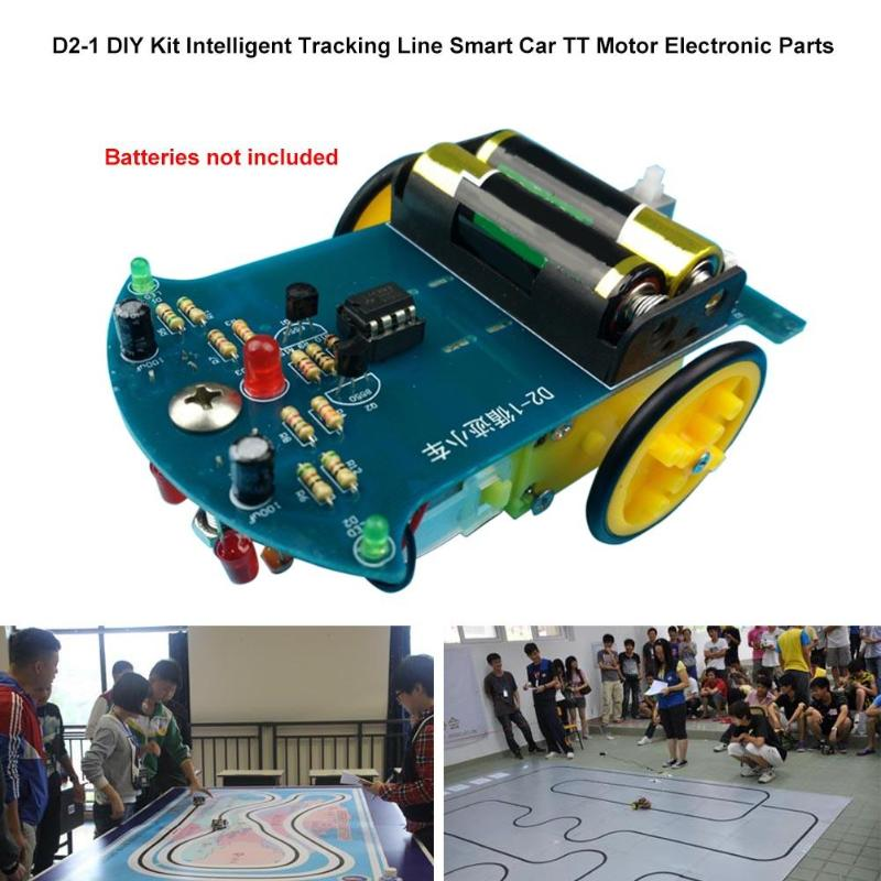 все цены на D2-1 DIY Smart Car Kit Intelligent Tracking Line Smart Car Follow Line TT Motor Electronic Smart Patrol Automobile Parts Toy Kit онлайн