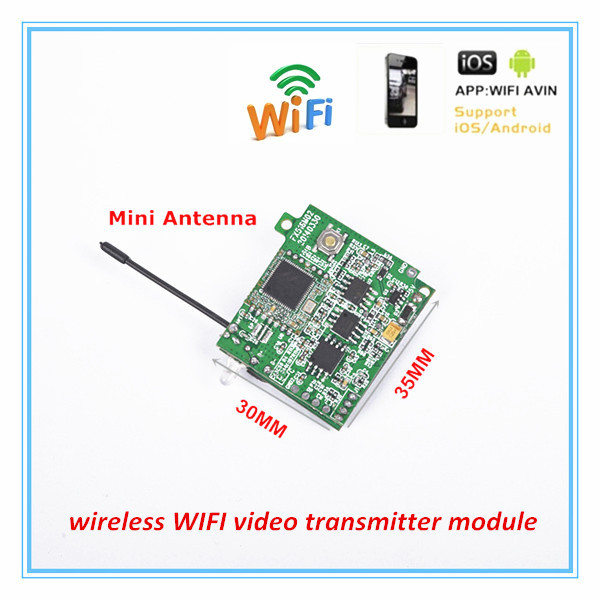 US $39 9 |For Android /IOS system , wireless 30fps P2P WiFi video  Transmitter module-in Radio & TV Broadcast Equipments from Consumer  Electronics on