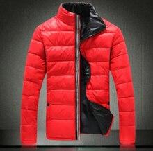 Куртка хлопок, красный черный синий белый мужские воротник-стойка зима ватные roupa masculina утолщаются тепловой — мягкий куртка