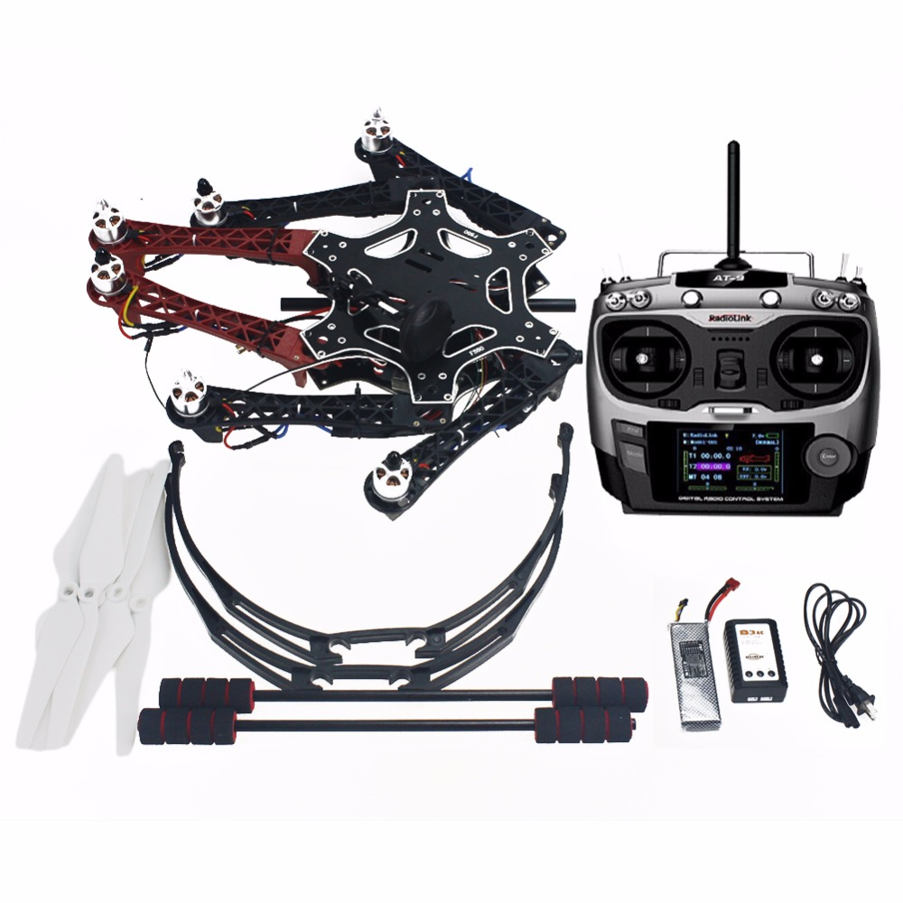 Assembled F550 6-Aixs DIY RTF Full Kit with APM 2.8 Flight Controller GPS Compass AT9S Transmitter Receiver No Gimbal F05114-AT assembled f550 6 aixs diy arf full kit with apm 2 8 flight controller gps compass