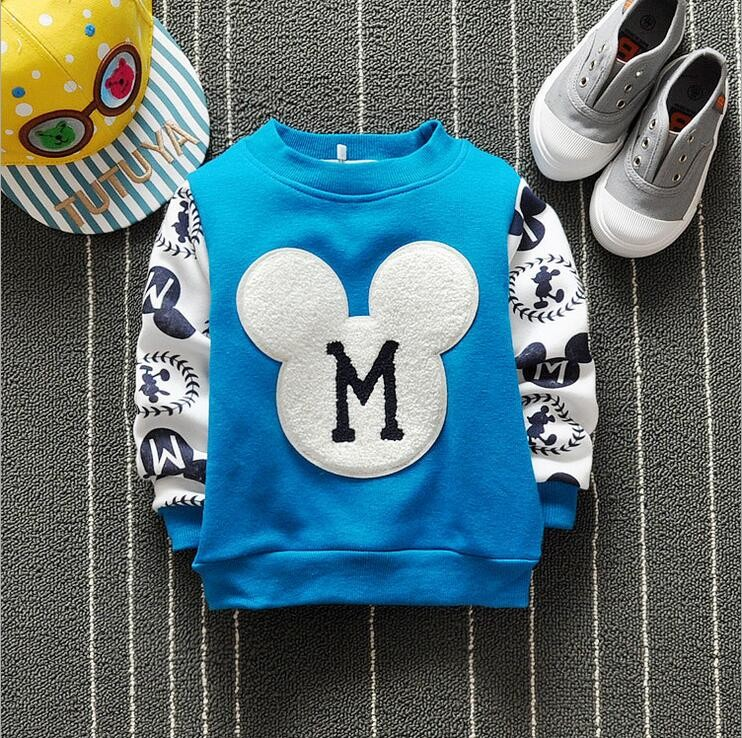 The new cartoon pattern fashion 0-2 year-old male and female baby long-sleeved clothes + free gifts 5