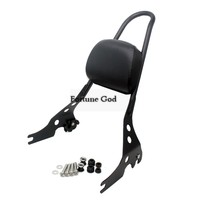 Motorcycle Luggage Rack Sissy Bar Rear Passenger Backrest Cushion For Harley Davidson Street XG 500 750