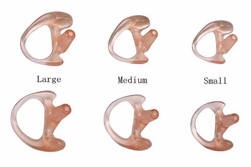 50 шт. силиконовые наушники-вкладыши в форме уха для Акустическая Воздушная трубка наушники, двухсторонняя радио гарнитура, наушники walkie talkie