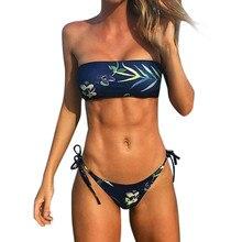 Women Swimsuits Bikini Set Swimwear Push-Up Padded Bandage Print Bra Swimsuit separate Swimsuits Femal Bikinis Bathing Suits