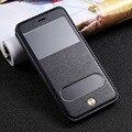 Роскошные Оригинальные Подлинная Кожа Телефон Case Ритро Шаблон Телефон Случаи с Окном Телефон Обложка Для iPhone 6 6 s 6 plus