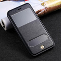 Luxury Original Genuine Leather Phone Case Ritro Pattern MobilePhone Cases with Window Phone Cover For iPhone 6 6s 6plus