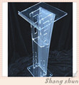 Luxury Acrylic Desktop / Acrylic Church Lectern Stand Church Pulpit