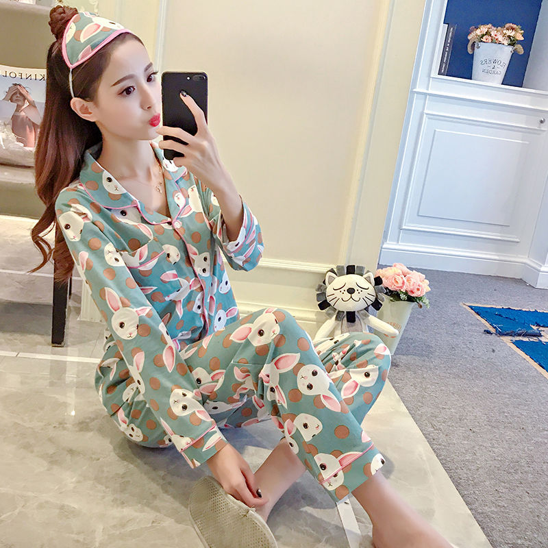 fd969c0b32 women s pajamas set spring and autumn long sleeves cute pajamas set girls  pajamas casual home serviceNight