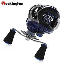 SeaKingFun Baitcasting Fishing Reel 6.3:1 Baitcasting Reel Centrifugal & Magnetic Brake Carbon Max Drag 10KG/22LB Fishing Reel