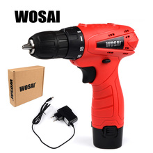 WOSAI  12V DC Household Lithium-Ion Battery Cordless Drill Driver Power Tools Electric Drill Durable and Affordable