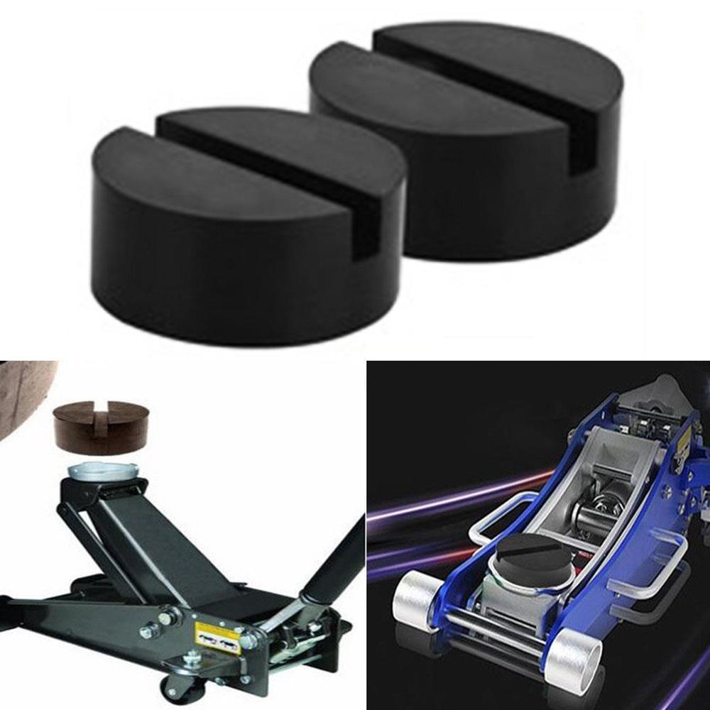 2pcs Jack Stand Premium Automobile Jacking Point Pad Practical Floor Jack Pad Maintenance Jacking Pad Adapter  Rubber Frame Rail