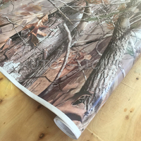 1.52*5/10/15/20/25/30M Hot Real Tree Camouflage Vinyl Camo Real Tree Sticker Bomb Foil Sheet Car Wrap Hood Roof Decal Styling