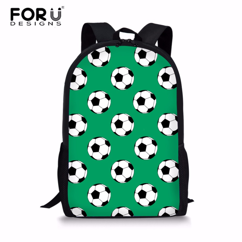 FORUDESIGNS 3D Soccer Printing School Backpack Teenager Personality Rucksack For Boys Mens Bagpack Footballs Pupil Backpack