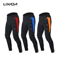 Riding Sportswear Lixada Men's Outdoor Cycling Pants Winter Thermal Breathable Comfortable Trousers with Padded Cushion