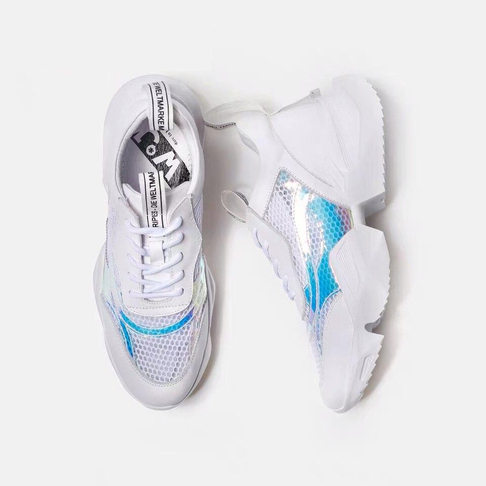 Delivr Loopschoenen Mannen Sneakers Lightweig Unisex Dikke Ademend Masculino Adulto Papa Schoenen Hoge Platform Vintage Vader Sneaker - 5