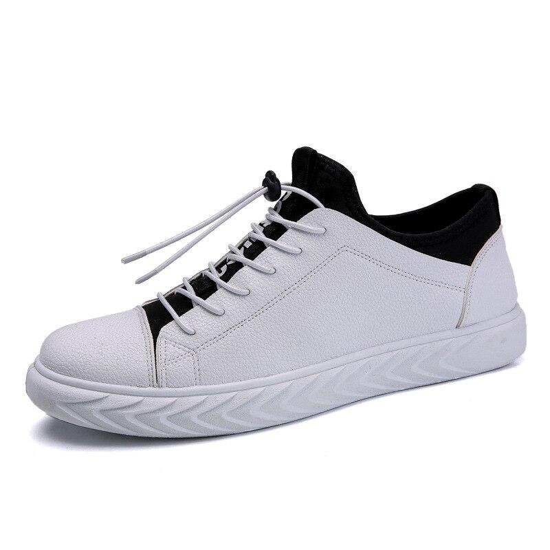 Homme bas en cuir Pu chaussures de skateboard printemps extérieur peluche garder au chaud laçage baskets garçon sport chaussures plates bottes de jeunesse