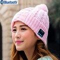 Presente de natal! Chegada nova Bluetooth Chapéu gorro Cap Chapéu de Inverno Malha Magic Hands-free Music mp3 para a Mulher Homens Smartphones