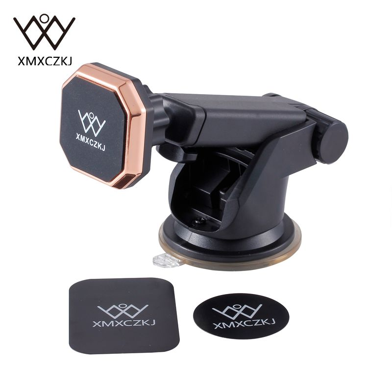 XMXCZKJ Universal Solid Series Telescopic Magnetic Car Mount Mobile Phone Stand Holder 360 Rotation For Mobile Phone