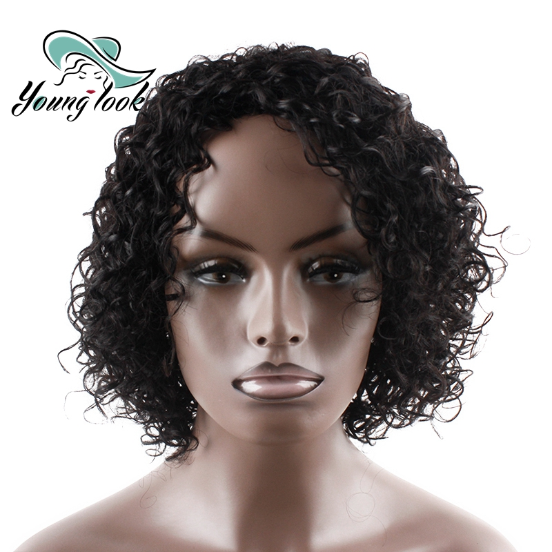 YOUNG LOOK HAIR Short Human Hair Wigs Human Hair Curly Wigs Machine Made No Smell Wigs 1 ...