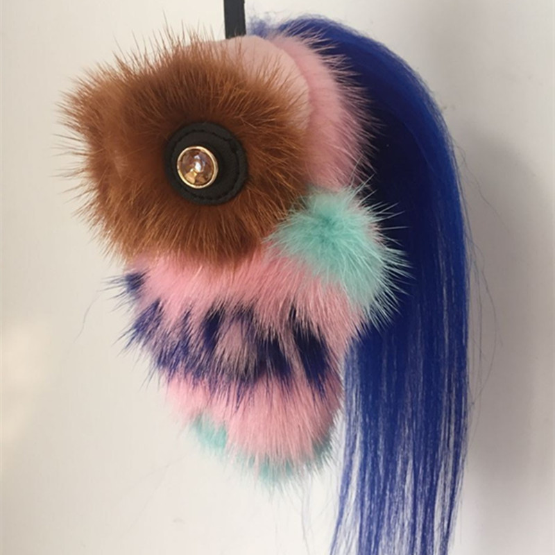 trinket-Fur-Pom-Pom-Key-Chain-Women-Trinket-monster-Toy-Doll-Bag-Car-Key-Ring-Monster (1)