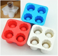 Creative Silicone Ice Cube Maker Four Grids Big Silicon Ice Cube Tray Ice Cream Jelly Pudding Mold Summer Ice Make Tool mold недорого