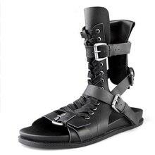 High Quality Men Rome Sandals Black Shoes Gladiator