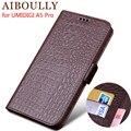 Чехол-книжка AIBOULLY из натуральной кожи для UMIDIGI A5 PRO 6 3 ''  защитный чехол для телефона  кожаный бумажник  силиконовые чехлы