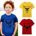 Покемон одежда дизайнер детская одежда футболка fille команда мистик команда мальчик топы poleras infantis menina camisetas