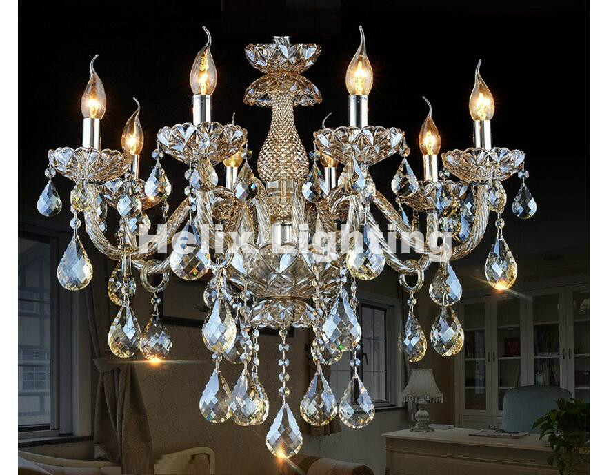 Modern Cognac Crystal Pendant Chandelier lights E14 K9 crystal lights Bedroom Living Room Chandeliers Crystal Modern Chandeliers