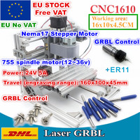 [EU Delivery/Free VAT] 1610 +ER11 GRBL Control Machine CNC DIY mini Working Area 160x100x45mm 3 Axis Pcb Milling Wood Router