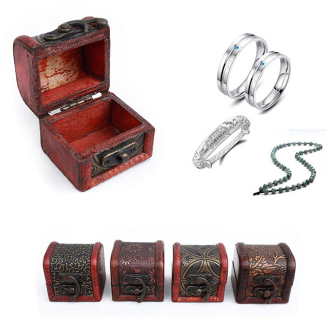 Vintage Jewelry Box Jewellery Organizer Storage Case Mini Container