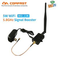 5.8G Mini WiFi WLAN Signal Booster 5W wi fi range Extender Repeater Broadband Amplifiers with antenna for Wireless wi fi Router