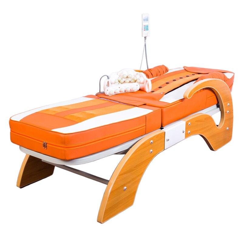 BYRIVER Электрический 7 камня нефрита ролик Термальность массаж тумбочка массажер