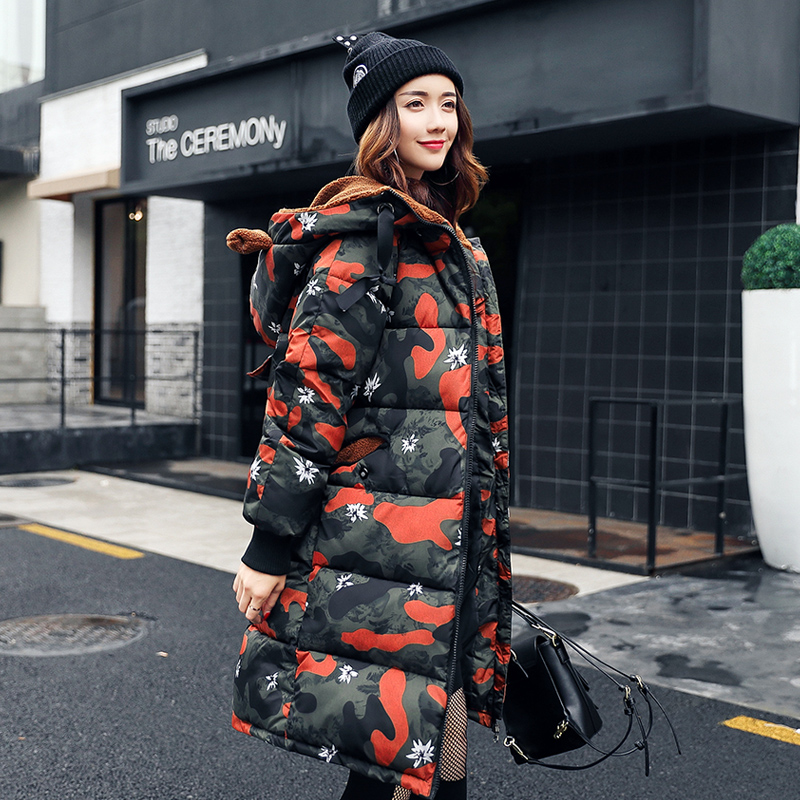 Jacket for pregnant women  2018 new style fashion leisure camouflage maternidade  thick cotton ladies coat