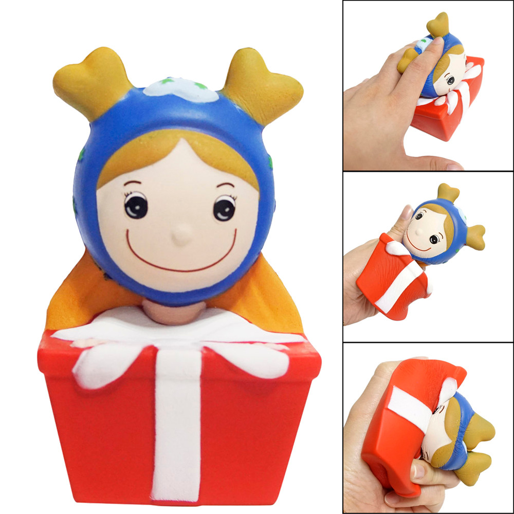 2018 Squishyies Cartoon Christmas Princess Scented Slow Rising Stress Reliever Toy Elastic Environmentally PU toys for children