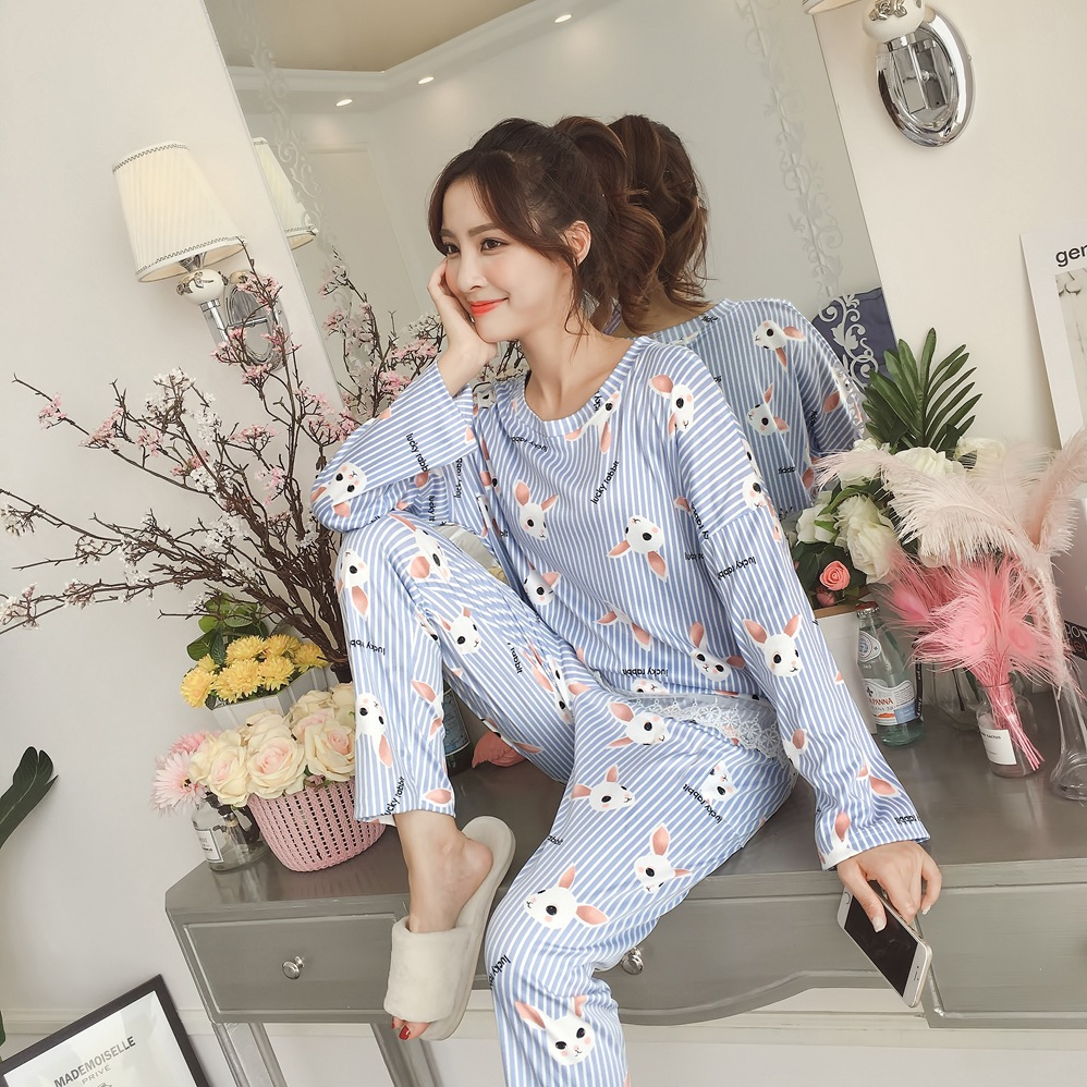 Women Autumn   Pajama     Set   Bear Printing pijama Home Pyjamas Woman Cotton Pyjama   Set   Sleepwear Plus Size   Pajamas   For Women pyjama